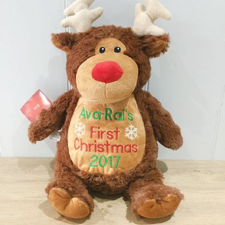 Personalised Christmas Cubbie Reindeer Soft Toy
